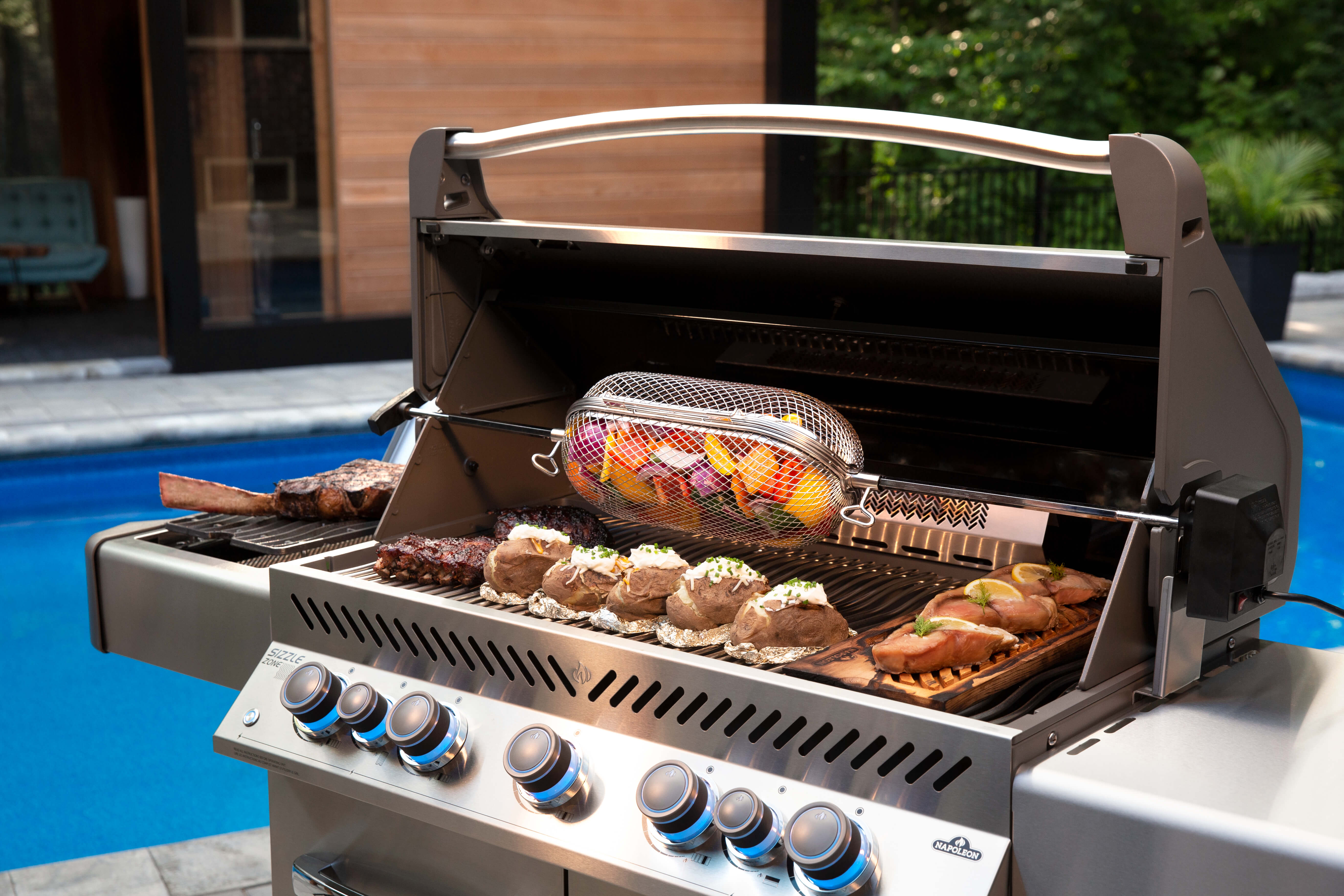 Prestige® 665 Propane Gas Grill with Infrared Side and Rear Burners, Stainless Steel