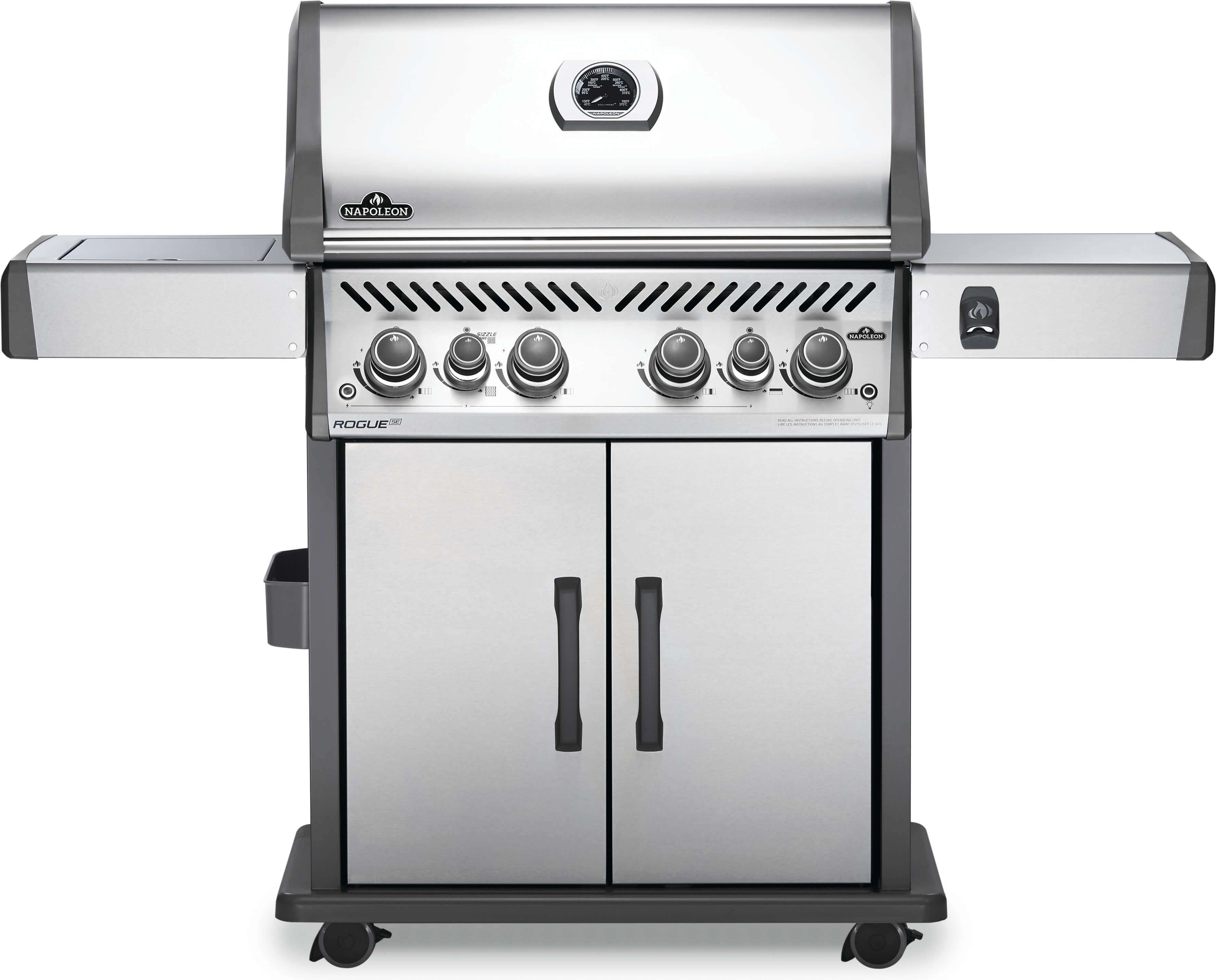 Rogue® SE 525 Natural Gas Grill with Infrared Rear and Side Burners, Stainless Steel